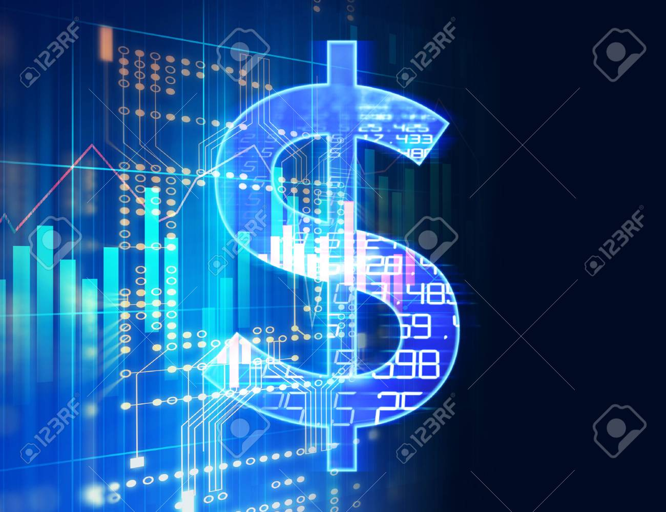 75396543-dollar-sign-on-abstract-financial-technology-background-represent-blockchain-and-fintech-investment-